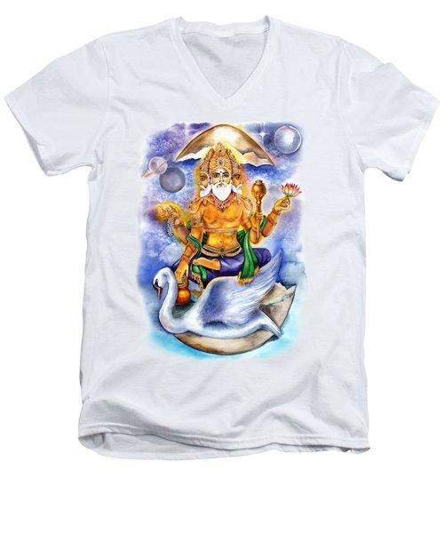 Brahma Men's V-Neck T-Shirt by Alona Miroshnichenko