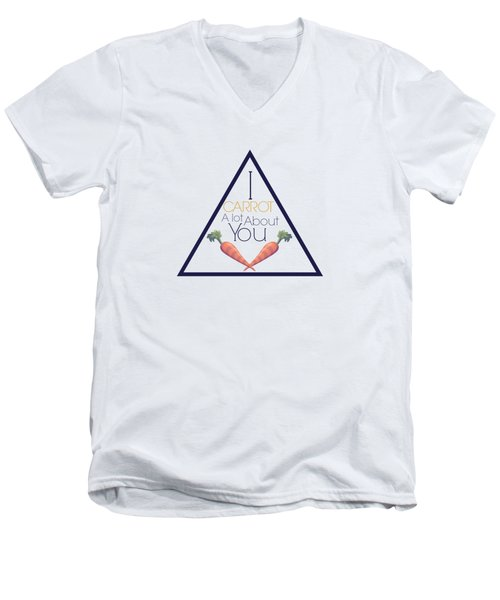 Carrot About You Pyramid Men's V-Neck T-Shirt by Lunar Harvest Designs