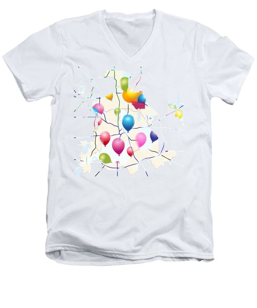 Celebrate ? Men's V-Neck T-Shirt by Jacquie King