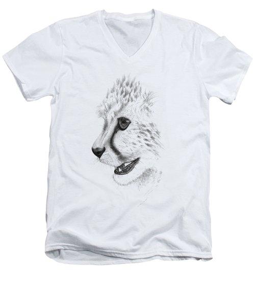 Cheetah Men's V-Neck T-Shirt by John Barnard