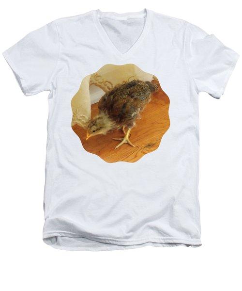 Chic Chickie Men's V-Neck T-Shirt by Anita Faye