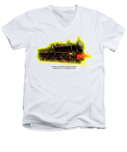 Classic British Steam Locomotive Men's V-Neck T-Shirt by Aapshop