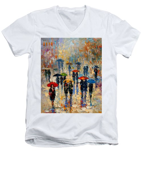 Cloudy Day Men's V-Neck T-Shirt by Andre Dluhos