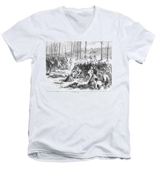 Coal Miner Strike, 1871 Men's V-Neck T-Shirt by Granger