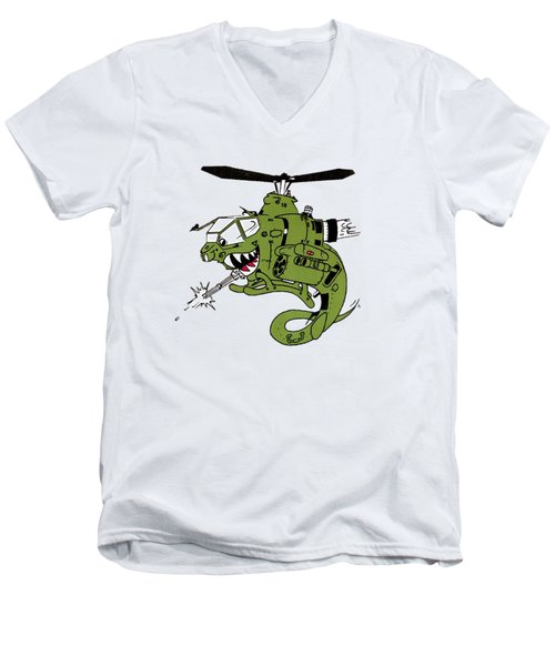Cobra Men's V-Neck T-Shirt by Julio Lopez