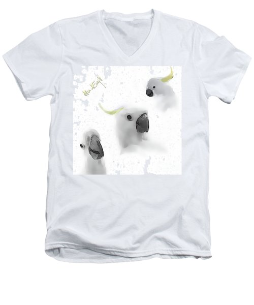 Cockatoos Men's V-Neck T-Shirt by iMia dEsigN
