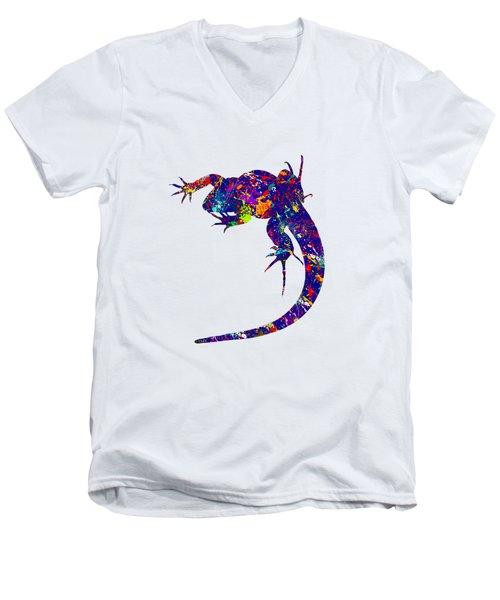 Colourful Lizard -2- Men's V-Neck T-Shirt by Bamalam  Photography