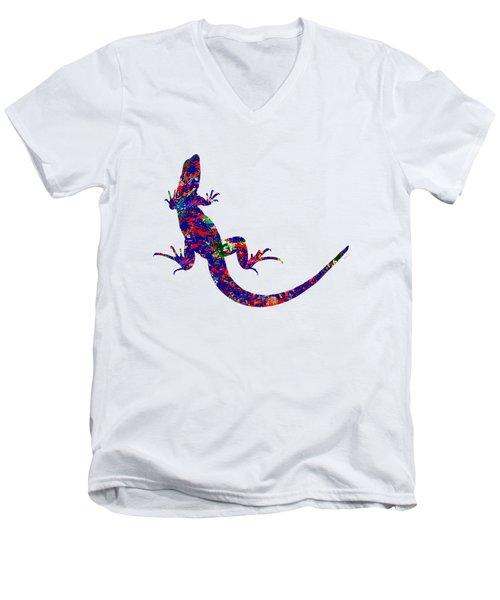 Colourful Lizard Men's V-Neck T-Shirt by Bamalam  Photography