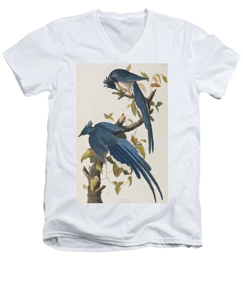 Columbia Jay Men's V-Neck T-Shirt by John James Audubon