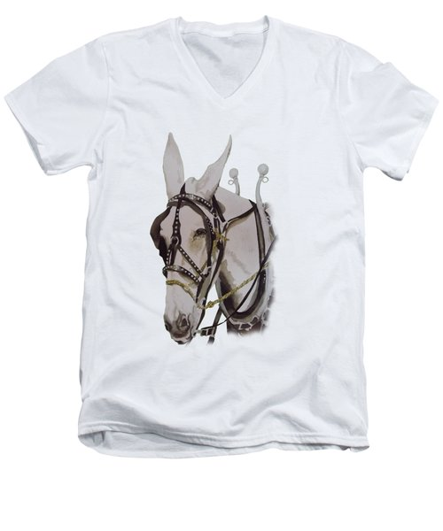 Connie The Mule Men's V-Neck T-Shirt by Gary Thomas