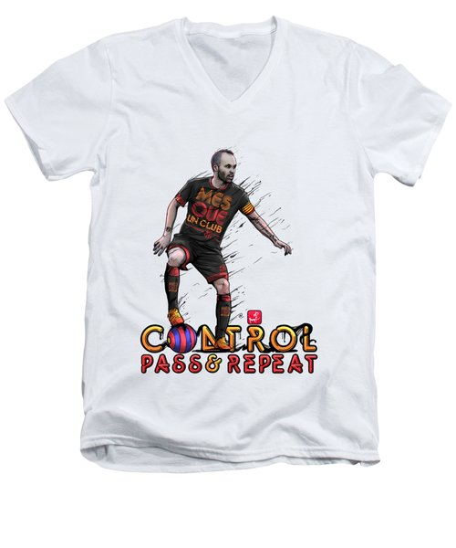 Control Pass And Repeat Men's V-Neck T-Shirt by Akyanyme