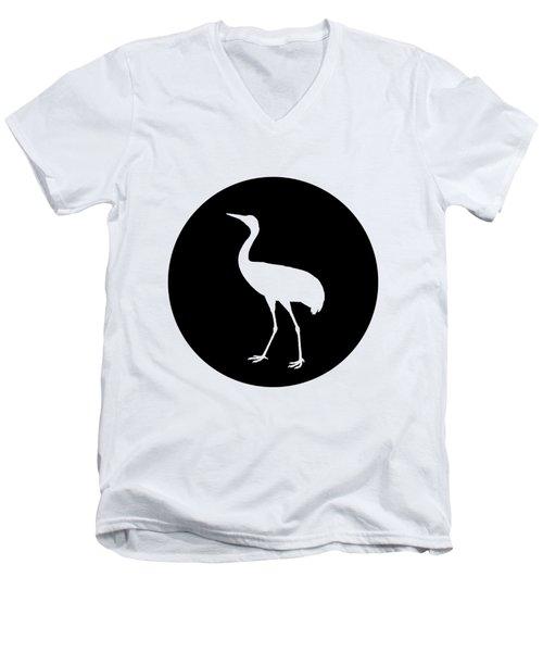 Crane Men's V-Neck T-Shirt by Mordax Furittus