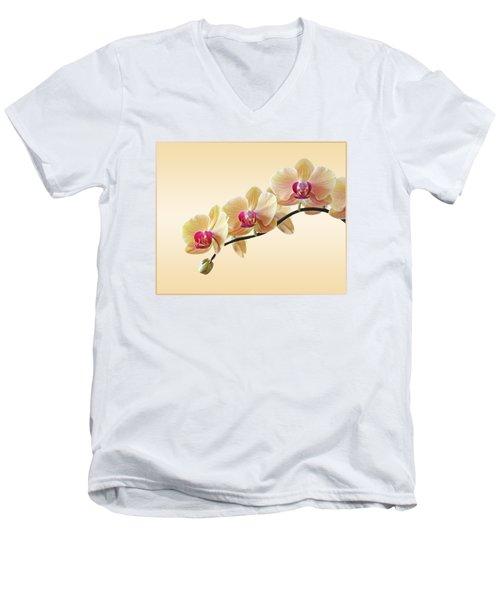 Cream Delight Men's V-Neck T-Shirt by Gill Billington