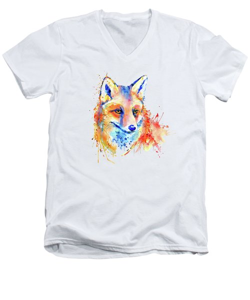 Cute Foxy Lady Men's V-Neck T-Shirt by Marian Voicu