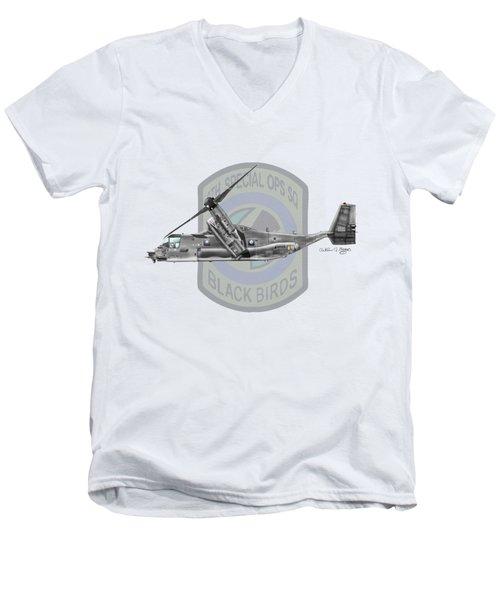 Cv-22b Osprey 8sos Men's V-Neck T-Shirt by Arthur Eggers