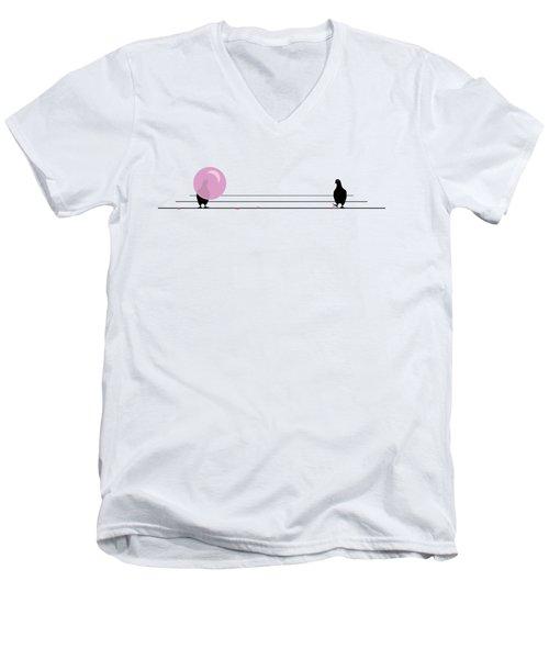 Dagum Bird Men's V-Neck T-Shirt by Jennifer Germani