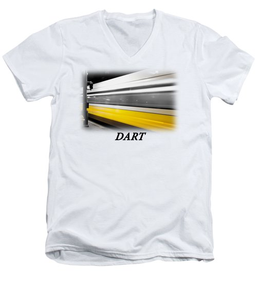 Dart Train T-shirt Men's V-Neck T-Shirt by Rospotte Photography