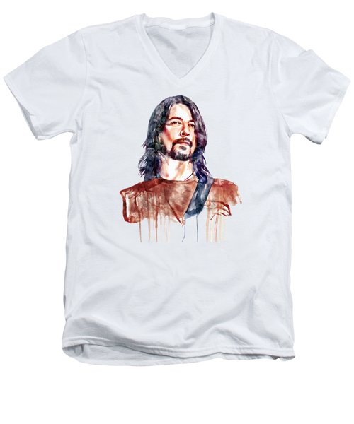Dave Grohl  Men's V-Neck T-Shirt by Marian Voicu