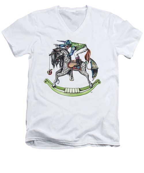 Day At The Races Men's V-Neck T-Shirt by Kelly Jade King