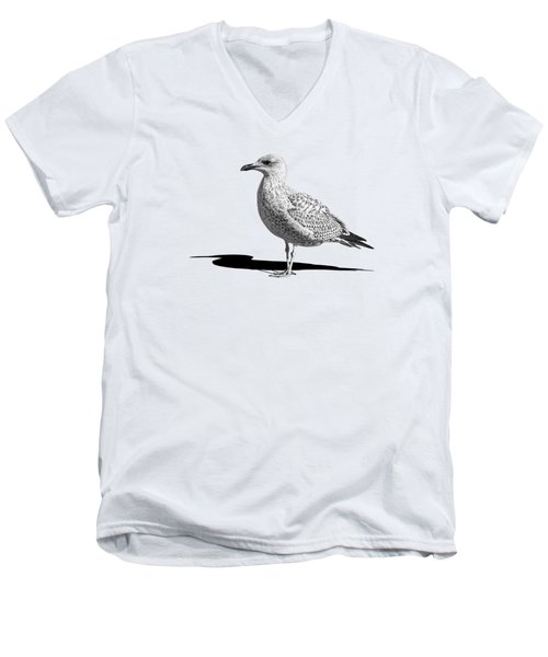 Daydreaming In Black And White Men's V-Neck T-Shirt by Gill Billington