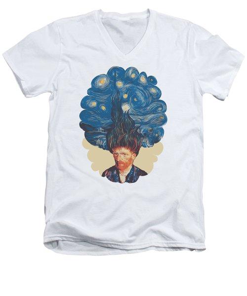 De Hairednacht Men's V-Neck T-Shirt by Mustafa Akgul