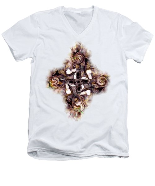 Desert Cross Men's V-Neck T-Shirt by Anastasiya Malakhova