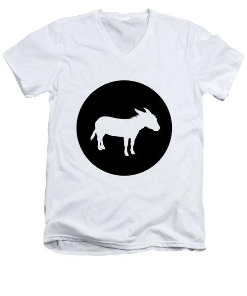 Donkey Men's V-Neck T-Shirt by Mordax Furittus