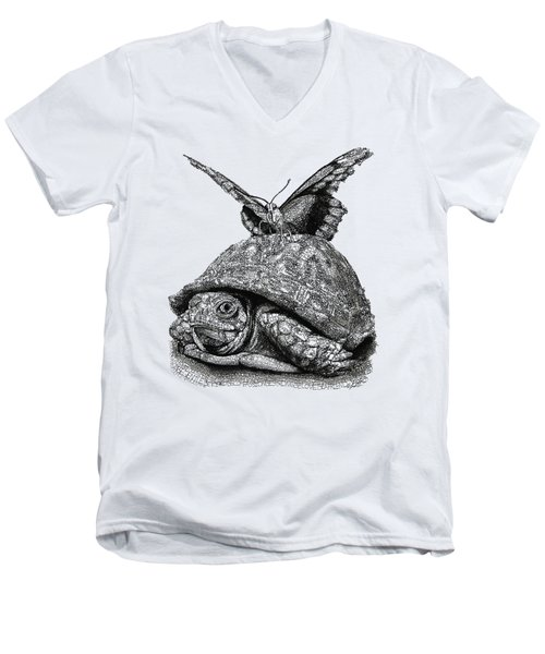 Dreams Of Flying Men's V-Neck T-Shirt by Michael Volpicelli