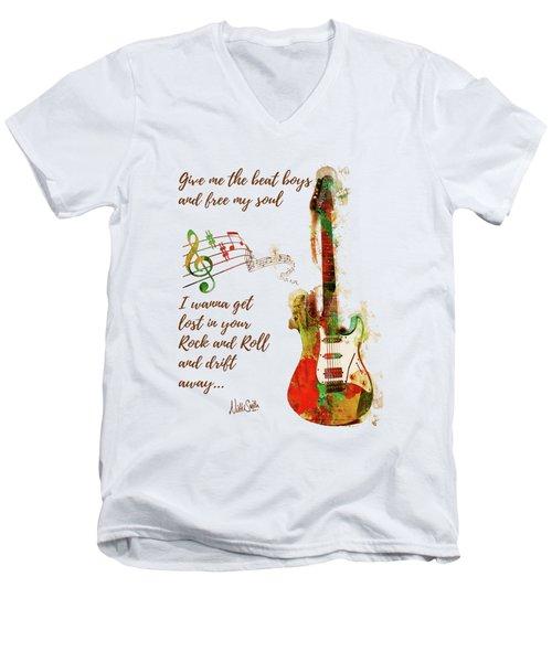 Drift Away Men's V-Neck T-Shirt by Nikki Marie Smith