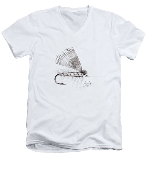 Dry Fly Men's V-Neck T-Shirt by Jay Talbot