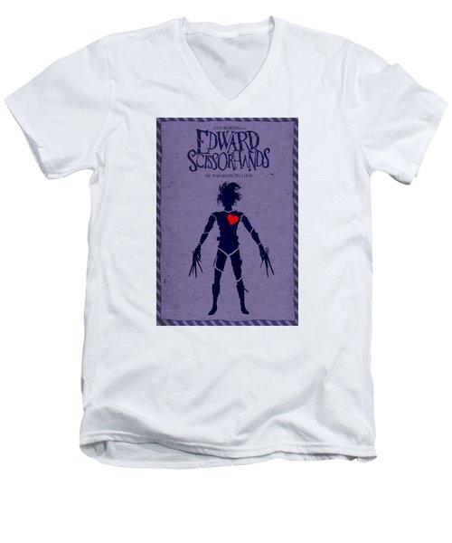 Edward Scissorhands Alternative Poster Men's V-Neck T-Shirt by Christopher Ables