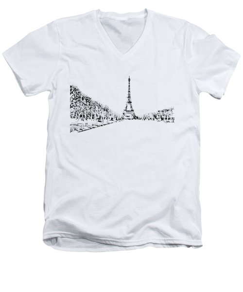Eiffel Tower Men's V-Neck T-Shirt by ISAW Company