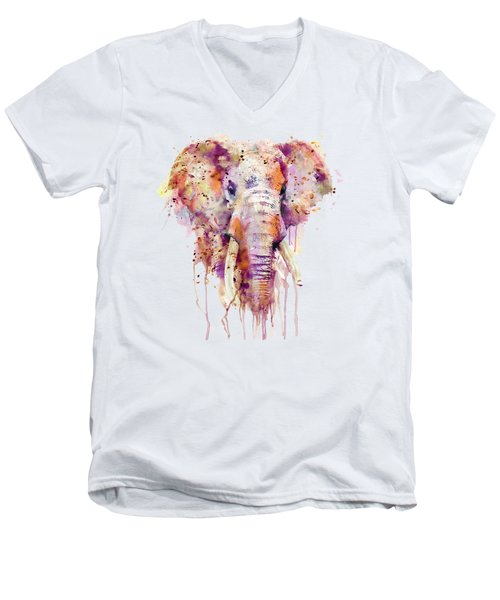 Elephant  Men's V-Neck T-Shirt by Marian Voicu