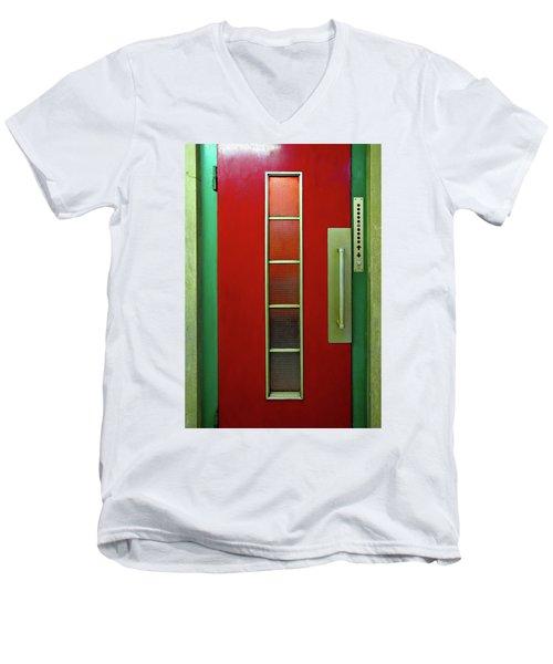 Elevator Door  Men's V-Neck T-Shirt by Ethna Gillespie