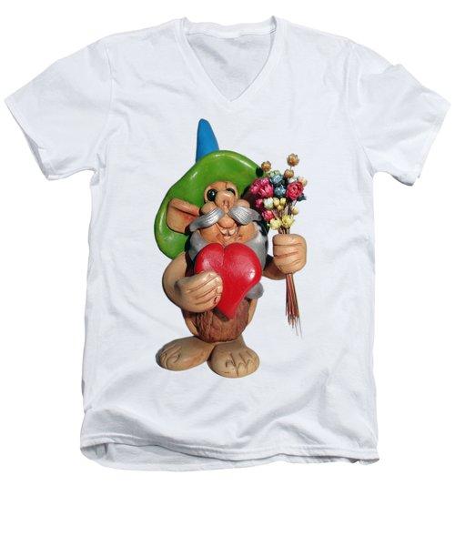 Elf Men's V-Neck T-Shirt by Ariel Pedraza