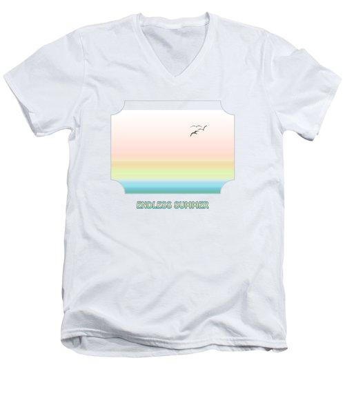 Endless Summer - Yellow Men's V-Neck T-Shirt by Gill Billington