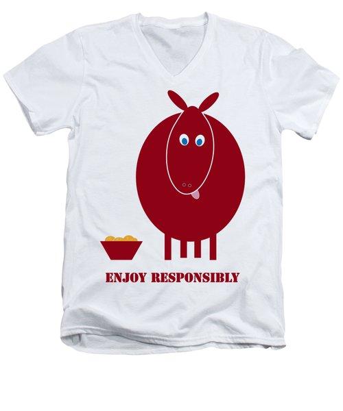 Enjoy Responsibly Men's V-Neck T-Shirt by Frank Tschakert