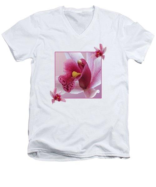 Exotic Temptation Men's V-Neck T-Shirt by Gill Billington