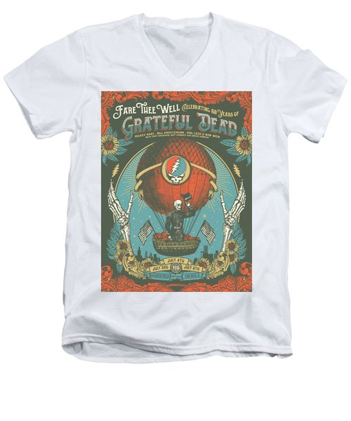 Fare Thee Well Men's V-Neck T-Shirt by Gd
