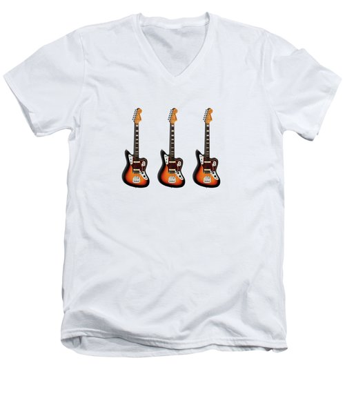 Fender Jaguar 67 Men's V-Neck T-Shirt by Mark Rogan