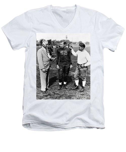 Fielding Yost (1871-1946) Men's V-Neck T-Shirt by Granger