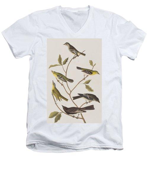 Fly Catchers Men's V-Neck T-Shirt by John James Audubon