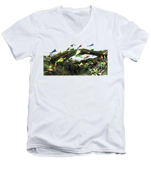 Frog Glen Men's V-Neck T-Shirt by Methune Hively