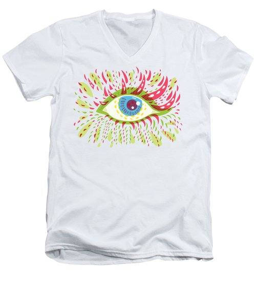 From Looking Psychedelic Eye Men's V-Neck T-Shirt by Boriana Giormova