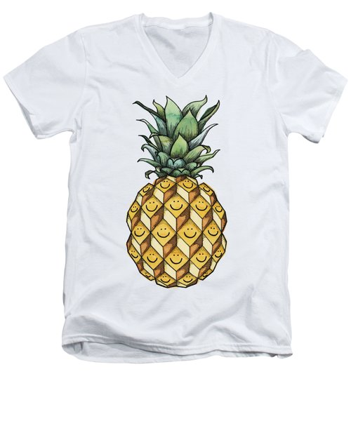 Fruitful Men's V-Neck T-Shirt by Kelly Jade King