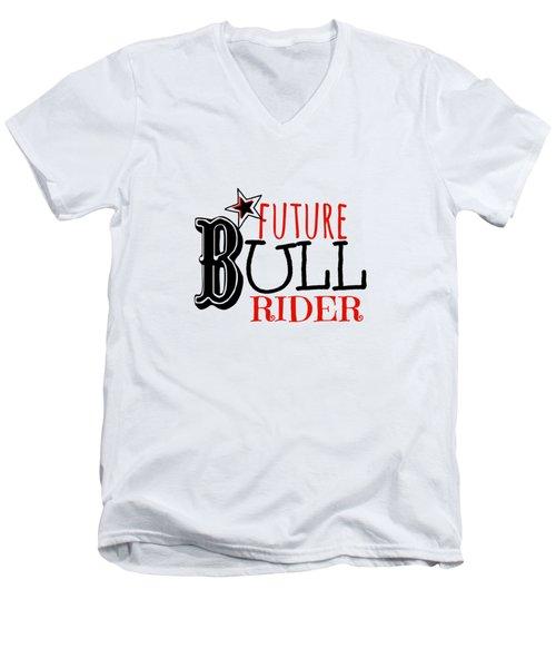 Future Bull Rider Men's V-Neck T-Shirt by Chastity Hoff