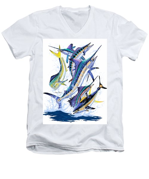 Gamefish Digital Men's V-Neck T-Shirt by Carey Chen
