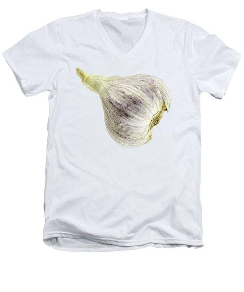 Garlic Head Men's V-Neck T-Shirt by Erich Grant