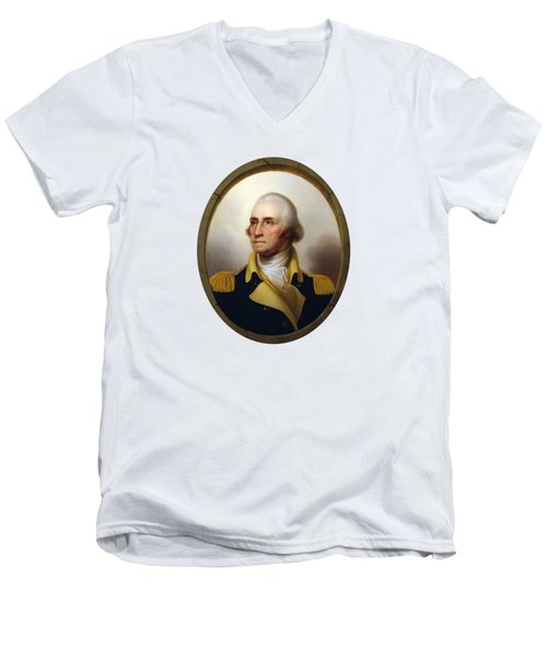 General Washington Men's V-Neck T-Shirt by War Is Hell Store