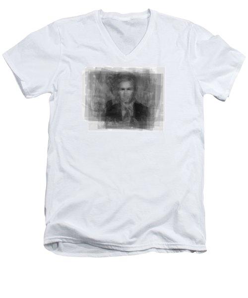 George W. Bush Men's V-Neck T-Shirt by Steve Socha